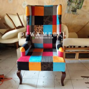 Pengrajin Kursi Sofa Single Minimalis Recycle Mebel Jepara